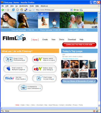 The new look of FilmLoop.com